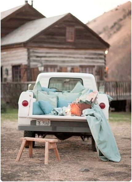 sweet life a la carte pickup truck just married