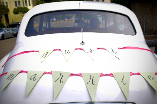 bunting getaway car ribbon
