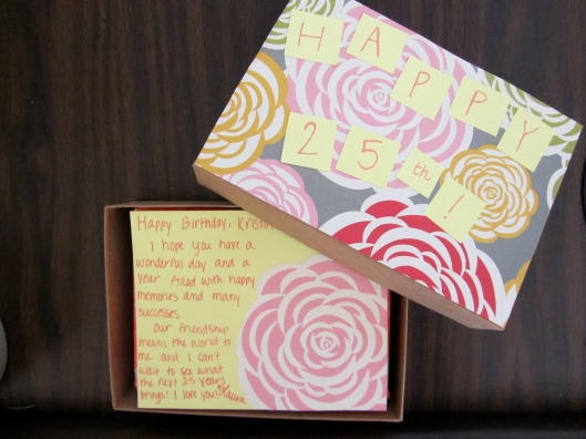 reuse birchbox to mail present