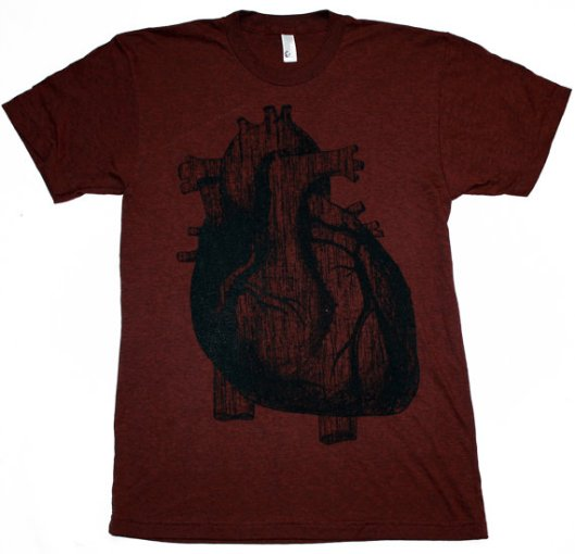 anatomically correct mens heart t shirt tee valentine gift