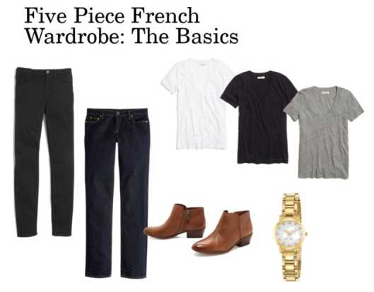 five piece french wardrobe basic basics shopping guide