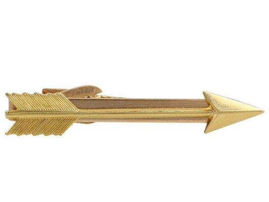 iadornu arrow brass tie bar mens accessories