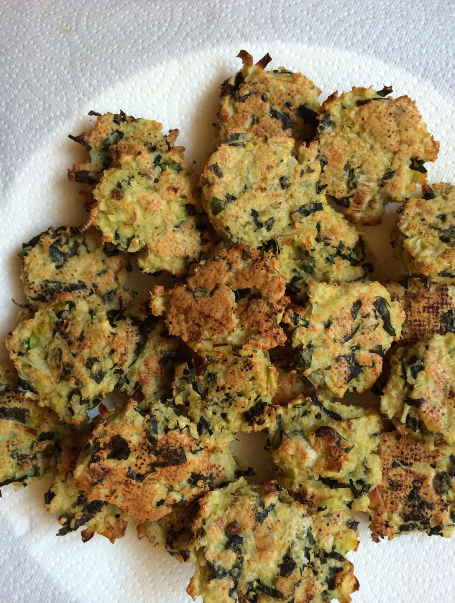Baked Kale, Leek, and Quinoa Patties