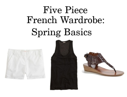 Five Piece French Wardrobe march 2014 basics spring j crew