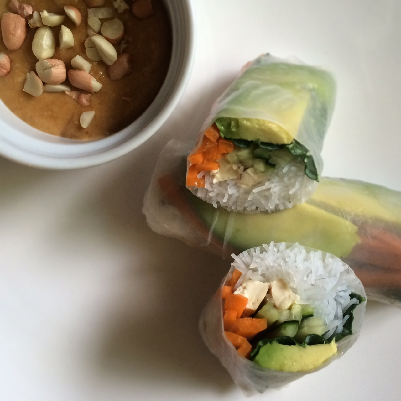 Papaya Spring Rolls With Peanut Sauce Recipes — Dishmaps