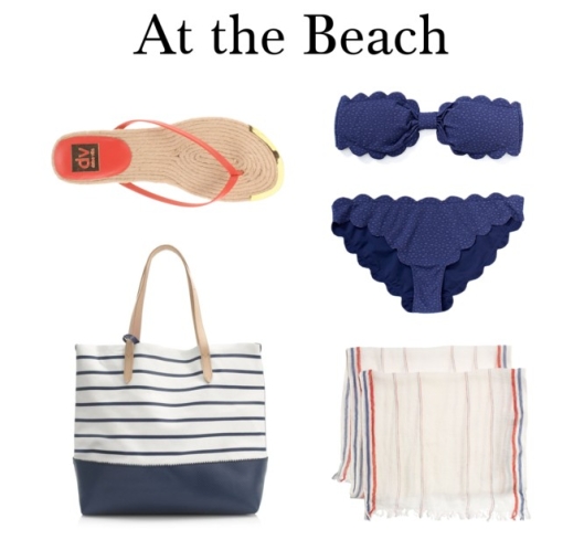 red white blue beach summer 2014